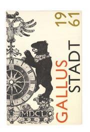Das von Max Koller gestaltete Cover der «Gallusstadt »Von 1961. (Bild: PD)
