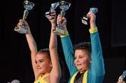 Riana Hardegger (Frauenfeld) und Joas Egli (Steckborn) holen sich den Tagessieg und den Gesamtsieg bei den Kids.Bild: PD