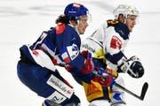 Nächste Saison Teamkollegen: Morant (rechts) wechselt zu den ZSC Lions und Roman Wick. (Bild: Keystone)
