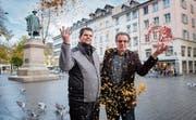Die Vorfreude steigt: Obergugger Andreas Jakob und Fasnachtspräsident Bruno Bischof sind bereit für die Fasnacht 2020. Bild: Urs Bucher