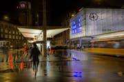Leserbild. Wolfgang Reisser fotografierte am Montag auf dem Bahnhofplatz.