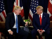 US-Präsident Donald Trump (rechts) hat mit dem britischen Premier Boris Johnson (links) telefoniert und die Möglichkeiten für eine Zusammenarbeit nach dem Brexit ausgelotet. (Bild: KEYSTONE/AP/EVAN VUCCI)