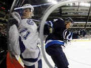 Paul Postma (rechts) im Dress der Winnipeg Jets verstärkt ab sofort Lugano (Bild: KEYSTONE/AP The Canadian Press/TREVOR HAGAN)