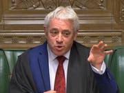 Zwar Parteikollege des Konservativen-Chefs Boris Johnson, aber ganz und gar kein Brexit-Befürworter: Ex-Speaker of the House of Commons John Bercow (hier noch in seiner Speaker-Robe im Parlament). (Bild: KEYSTONE/EPA UK PARLIAMENTARY RECORDING UNIT/UK PARLIAMENTARY)