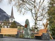 Die Gedenkstätte für Opfer fürsorgerischer Massnahmen in Erstfeld UR. (Bild: KEYSTONE/ALEXANDRA WEY)