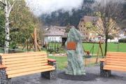 Die Gedenkstätte liegt am Dammweg in Erstfeld, nördlich der Jagdmattkapelle. (Bild: Paul Gwerder, 6. November 2019)