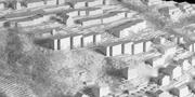 Das Areal Weinhalde in Kriens mit den geplanten drei Neubauten in der Bildmitte. (Visualisierung: PD)