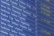 Die Entschädigung für Bahnreisende sei ungenügend, kritisieren Konsumentenschützer. (Bild: Keystone)