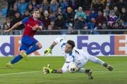 Fabian Frei trifft zum 2:1 und schiesst den FC Basel damit in den Sechzehntelfinal der Europa League. (Bild: Keystone)