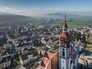 Eine Konsultativabstimmung soll in Ruswil das neue Gemeindehaus einen Schritt näher bringen. (Bild: Pius Amrein, 22. November 2018)