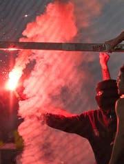 Vor dem Europa-League-Spiel zwischen dem FC Lugano und Malmö wurden zwei Pyrofakeln gezündet. (Symbolbild: Urs Jaudas)