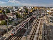 Blick auf den Bahnhof Sursee. (Bild: Pius Amrein, 6. November 2018)