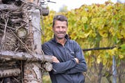 Roland Lenz in den Reben, aus welchen sein Biowein entsteht. (Bild: Donato Caspari)