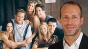 Venanzio di Bacco (rechts) will mit seiner Schweizer Kinokette Pathé in Zukunft Serien wie die Kult-Sitcom «Friends» in ihren Vorführungssälen zeigen. (Bild: HO/Montage_CH Media)