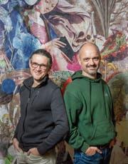 Sie laden Lyriker ein zu Klangreisen auf deren Texten: Christian Berger, Gallus Frei. Bild: Urs Bucher