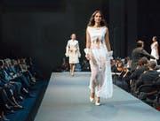 Models auf dem Laufsteg am Fashion Day im Luzerner KKL.Bild: Pius Amrein (21. September 2019)