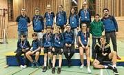 16 Medaillen gewann der Nachwuchs des BC Trogen-Speicher an den Ostschweizer Meisterschaften.Bild: PD