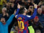 Lionel Messi brilliert im Camp Nou einmal mehr (Bild: KEYSTONE/AP/JOAN MONFORT)