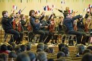 Heimspiel in der Tonhalle mit «Ohrovision»: Das Sinfonieorchester St.Gallen vor Nachwuchspublikum im März 2013. (Bild: Coralie Wenger)