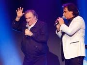 Gérard Depardieu (links) an der Gala des FC Sion mit dessen Präsidenten Christian Constantin (rechts) (Bild: KEYSTONE/SALVATORE DI NOLFI)