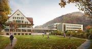 Die Stimmbürger der Schulgemeinde Wattwil-Krinau stimmten dem vorgelegten Sanierungs- und Ausbauprojekts der Schulanlage Risi zu. Visualisierung: PD