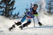 Antonia Zurfluh holt bei den Frauen mit grossem Vorsprung den Urner Kantonalen Slalom-Meistertitel. Bild: Urs Hanhart (Attinghausen, 9. Februar 2019)