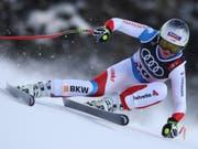 Corinne Suter auf dem Weg zur nächsten Medaille (Bild: KEYSTONE/AP/ALESSANDRO TROVATI)