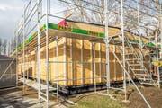 Der neue Pavillon befindet sich momentan im Bau. (Bild: Patrick Hürlimann (Zug, 9. Februar 2019))