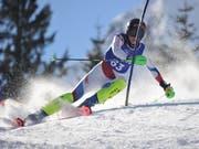 Andreas Schuler wird überlegen Meister im Urner Kantonal-Slalom. Bild: Urs Hanhart (Attinghausen, 9. Februar 2019)