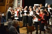 Der Singkreis Hohentannen stand das letzte Mal unter der Leitung von Béa Mory. (Bild: Monika Wick)