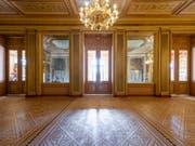 Das Vorfoyer des renovierten Grand Théâtre in Genf ist bereit, die Besucher zu empfangen. Wiedereröffnung ist am 12. Februar 2019. (Bild: GTG / Fabien Bergerat)