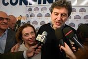Marco Marsilio, Senator der postfaschistischen Fratelli d'Italia, holte am Wochenende in den Abruzzen den Wahlsieg. (Bild: Claudio Lattanzio/EPA, 11. Februar 2019)