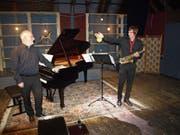 David Sonder (Klavier) und Matteo a Marca (Saxofon) verzauberten das Publikum. (Bild: Kurt Liembd (Stans, 8. Februar 2019))