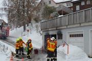 Die ausgerückte Feuerwehr konnte den Brand schnell löschen. (Bild: PD)