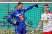 FCL-Stürmer Tomi Juric, hier im Testspiel gegen Chiasso, wird gegen Sion und Lugano nicht aufgeboten. (Bild: Andy Mueller/ freshfocus, 26. Januar 2019)