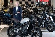 Brachte dem Yamaha-Generalimporteur frischen Wind und gute Zahlen: Pascal Lütolf, CEO Hostettler. (Bild: Eveline Beerkircher Sursee, 26. Oktober 2017)