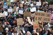 Die Klimademos beschäftigen auch die Ständeräte. (Bild: ky)