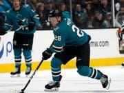 Timo Meier hält bereits bei 20 NHL-Saisontoren für die San Jose Sharks (Bild: KEYSTONE/FR155217 AP/TONY AVELAR)