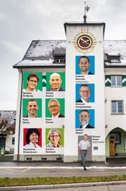 Der neue Amriswiler Stadtrat, wie er sich ab dem 1. Juni 2019 zusammensetzt. (Bildmontage: Infografik Tagblatt)