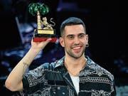 Der Sieger Mahmood (26). (Bild: Ettore Ferrari/AP (Sanremo, 9. Februar 2019))