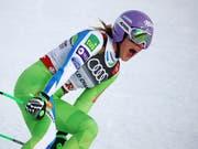 Die slowenische Abfahrts-Weltmeisterin Ilka Stuhec startet schon in dieser Woche im Europacup in Crans-Montana (Bild: KEYSTONE/AP/MARCO TROVATI)