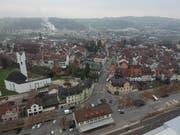 Blick vom Bahnhof auf die Altstadt und den Stadtteil Bischofszell Nord. (Bild: Manuel Nagel)