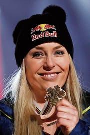 Abschied mit WM-Medaille: Lindsay Vonn. (Bild: Gabriele Facciotti/Keystone (Åre))