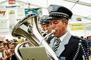 Die Musikgesellschaft Concordia Fischingen an ihrem letzten grossen Fest, dem 150-Jahr-Jubiläum 2013. (Bild: Olaf Kühne)