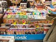 Die Kioskbetreiberin Valora testet kleinformatige Kioske, die rund um die Uhr geöffnet sind. Der Zugang und der Einkauf wird über eine App geregelt. (Bild: KEYSTONE/MARTIN RUETSCHI)