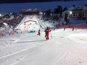 So sah die Piste während des Team Events aus, an dem die Schweiz die Goldmedaille gewann. (Bild: PD)