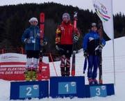 Beda Muoser (rechts) vom SC Gotthard-Andermatt fuhr auf dem Hochstuckli zweimal aufs Podest. (Bild: PD)