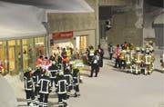 Rund 100 Einsatzkräfte nahmen an der Übung teil. (Bild: Kantonspolizei Uri, Oberalppass, 12. Februar 2019)
