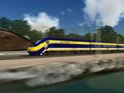 Soll deutlich kürzer werden: eine in Kalifornien geplante Hochgeschwindigkeitszugstrecke zwischen San Francisco und Los Angeles. (Bild: KEYSTONE/AP California High-Speed Rail Autho)