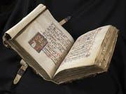 Das Gesangsbuch des Dominikanerklosters St. Katharinental (um 1312) ist Teil der Ausstellung «Glanzlichter der Gottfried Keller-Stiftung» im Landesmuseum in Zürich. Sie dauert vom 14. Februar bis 22. April 2019. (Bild: Gottfried Keller-Stiftung/Landesmuseum)